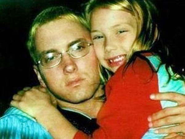 Eminem with his daughter Hailie seems happy