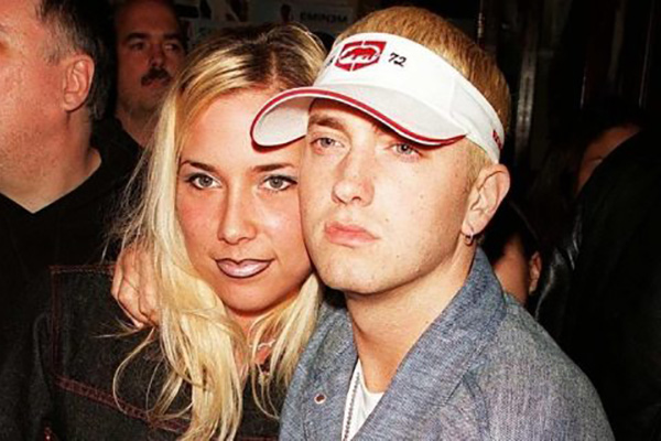Whitney Scot Mathers' Father Eminem with mother Kimberly Scott Mathers