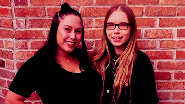 Image of Hailie Jade sister Alaina Mathers and Whitney Scott Mathers.