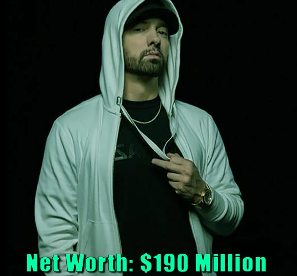 Image of Rapper, Eminem net worth is $190 million