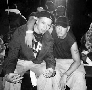 Eminem and his uncle, Ronnie Nelson
